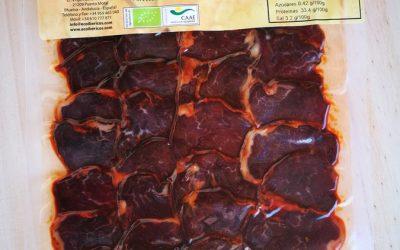 Solomillo curado ecológico loncheado Bellota 100% ibérico. ECOIBÉRICOS® 100g