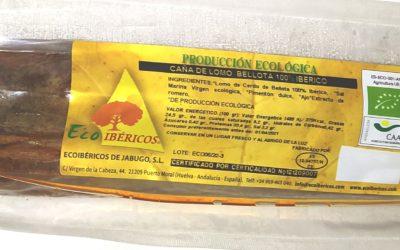 Caña de lomo ecológica bellota 100% ibérica. ECOIBÉRICOS® 0,90 a 1,00 Kg aprox.