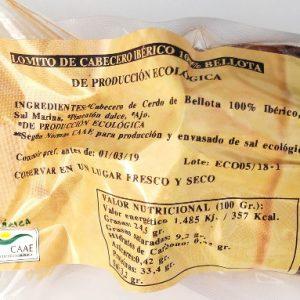 LOMO CHEF ÉCOLOGIQUE DE LOMO 100% IBÉRICO DE BELLOTA. ECOIBÉRICOS® 0,50Kg