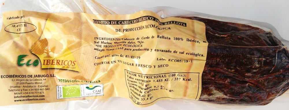 LOMITO DE CABECERO BELLOTA 100% IBÉRICO - ECOIBERICS
