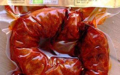 Chorizo Herraduras Ecológico 100% ibérico de bellota ECOIBÉRICOS® 0,50 Kg aprox.