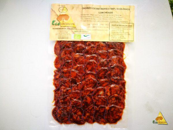 Organisk EXTRA chorno-fodret chorizo 100% iberico de bellota. skiver