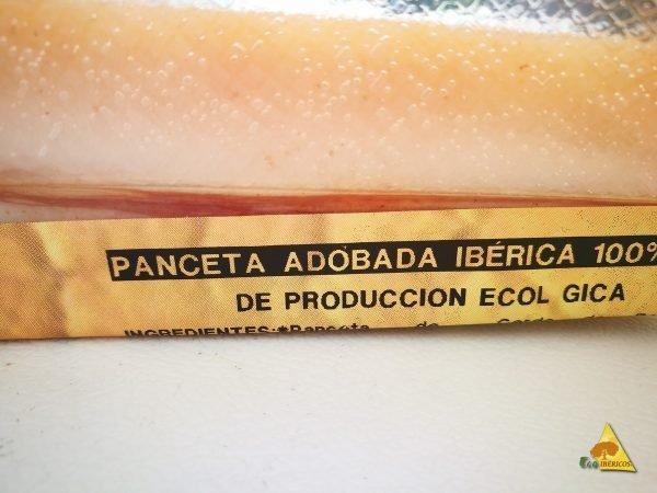PANCETA ADOBADA ECOLÓGICA DE BELLOTA 100% IBÉRICO