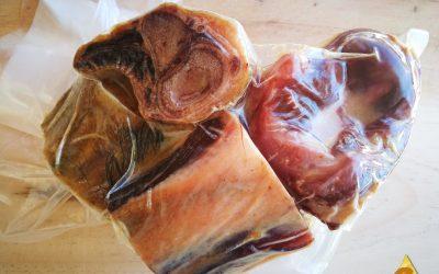 Huesos de Jamón Ecológico 100% ibérico de bellota. Envasado al vacío – ECOIBÉRICOS®