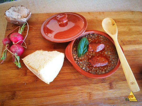 lentilhas com chouriço ibérico 100% bolota orgânica - ECOIBEROS