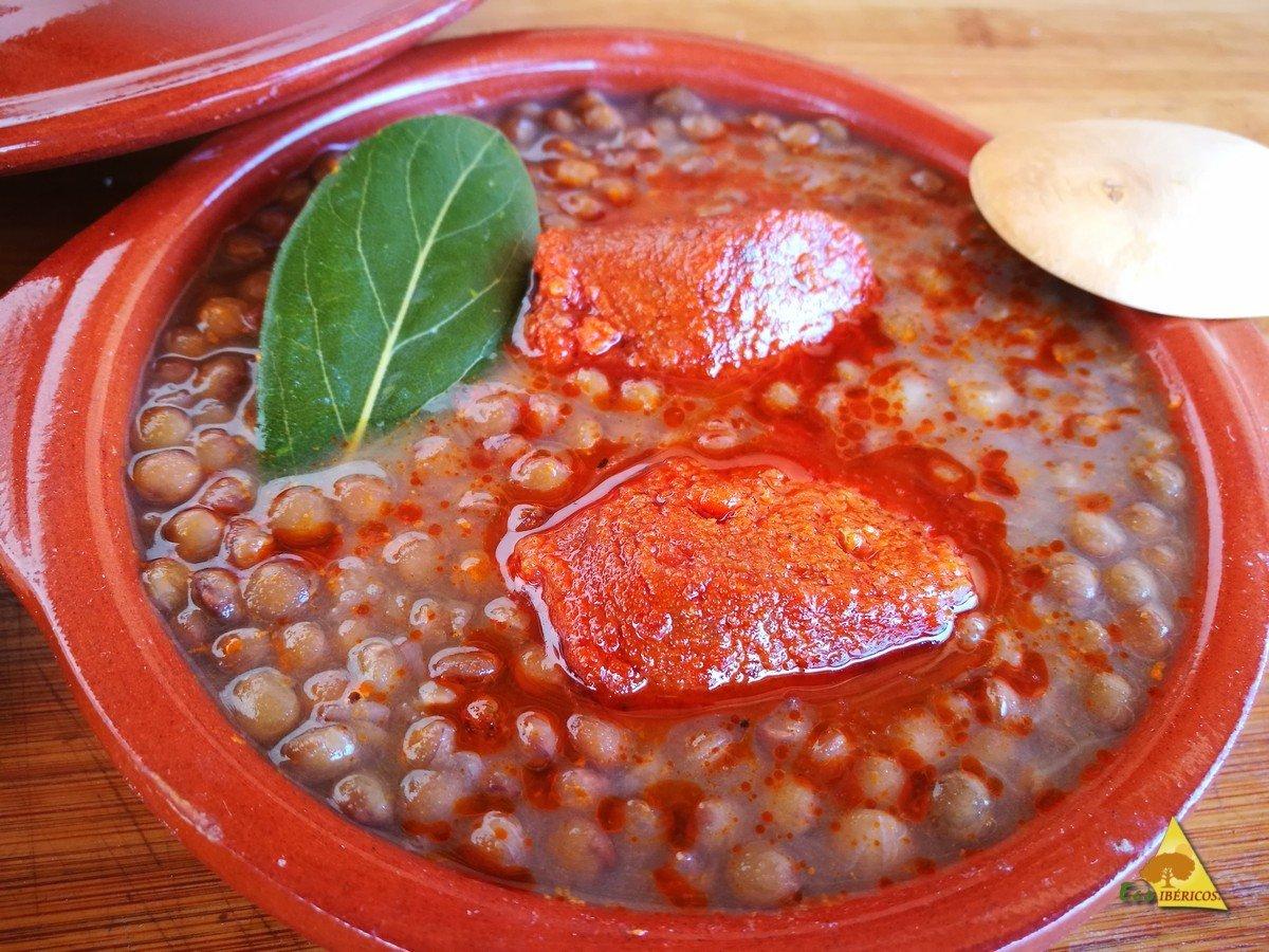 I piú lenticchie-con-salsiccia-extraecoibéricos